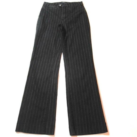 NYDJ pinstriped trouser jeans
